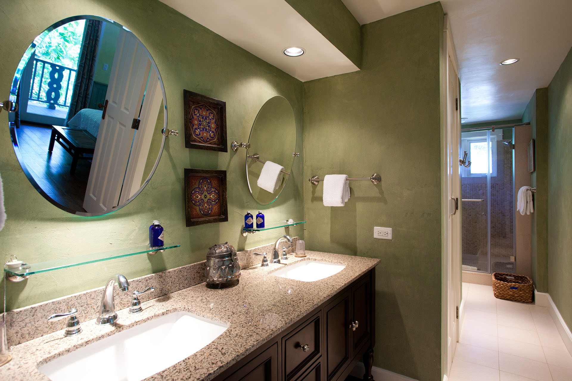 Ginger master bathroom