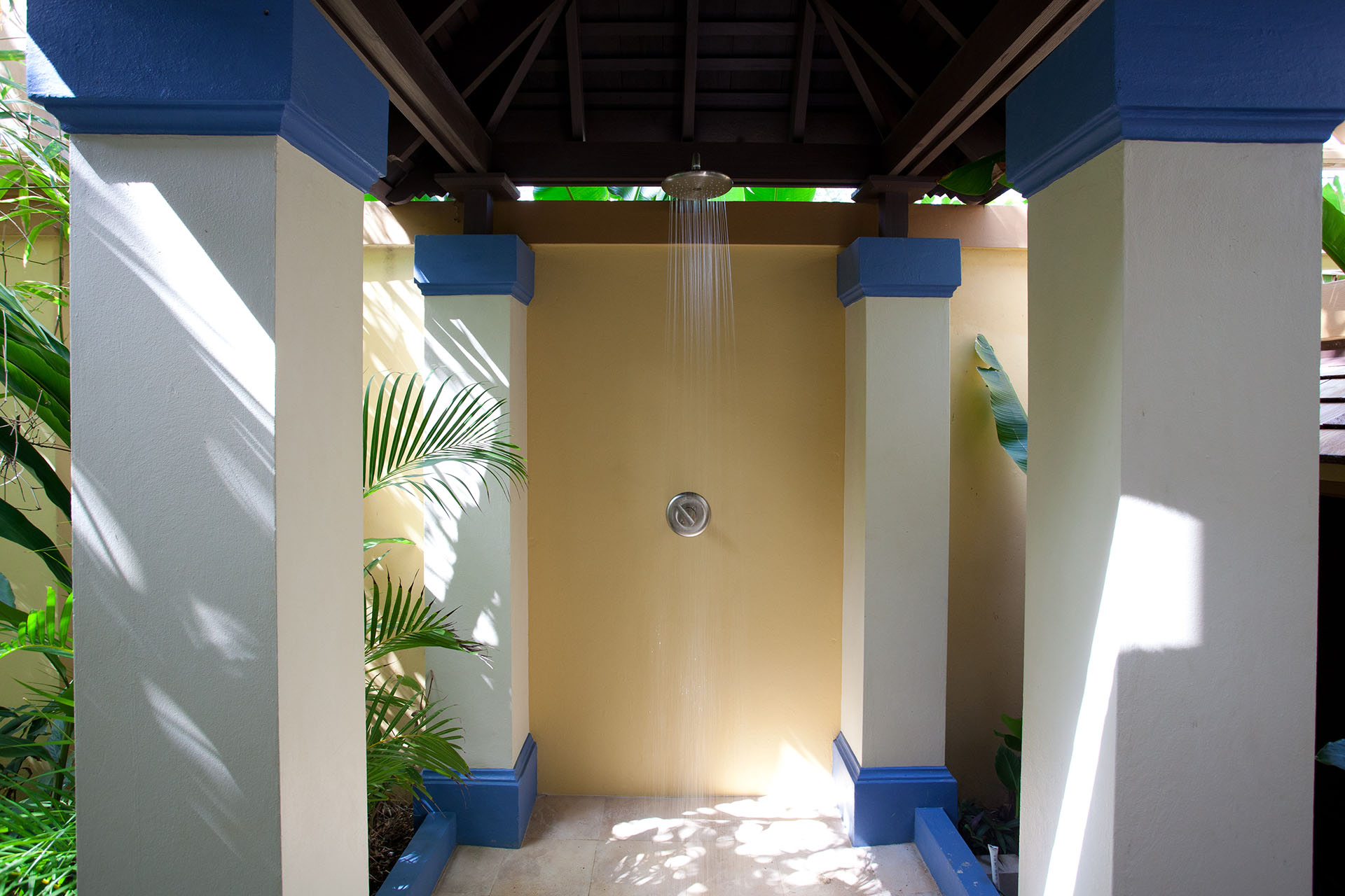 Breadfruit outdoor shower