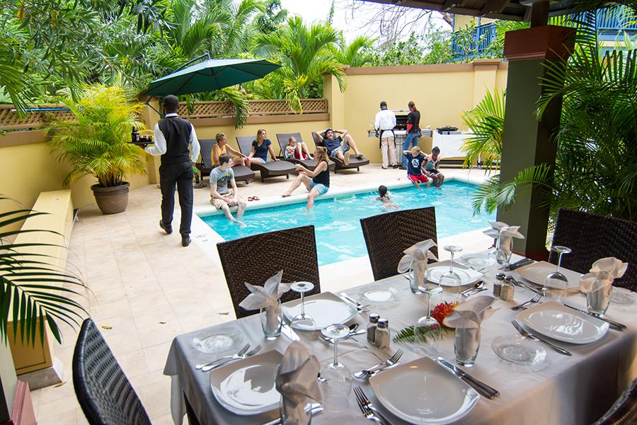 Dine in your villa