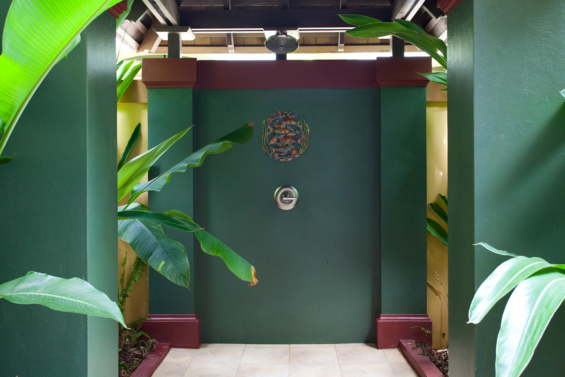 Mango Suite outdoor shower